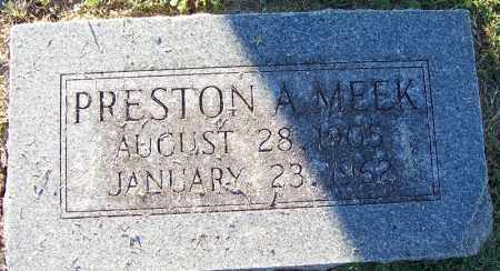 MEEK, PRESTON A - Sebastian County, Arkansas | PRESTON A MEEK - Arkansas Gravestone Photos