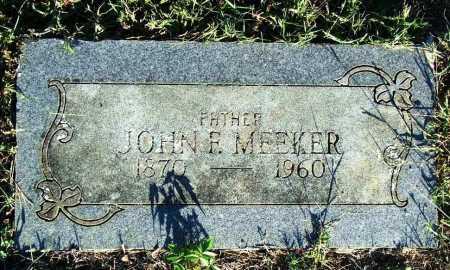 MEEKER, JOHN F. - Sebastian County, Arkansas | JOHN F. MEEKER - Arkansas Gravestone Photos