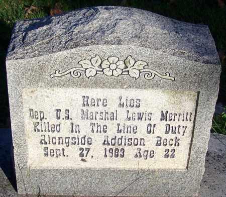 MERRITT (FAMOUS), LEWIS - Sebastian County, Arkansas | LEWIS MERRITT (FAMOUS) - Arkansas Gravestone Photos