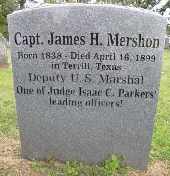 MERSHON (VETERAN CSA; FAMOUS), JAMES H - Sebastian County, Arkansas | JAMES H MERSHON (VETERAN CSA; FAMOUS) - Arkansas Gravestone Photos