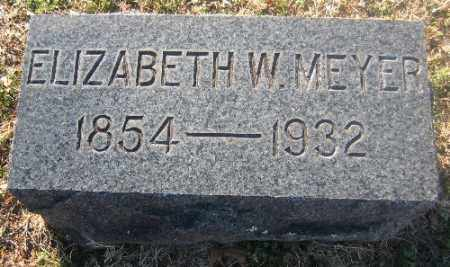 MEYER, ELIZABETH W. - Sebastian County, Arkansas | ELIZABETH W. MEYER - Arkansas Gravestone Photos
