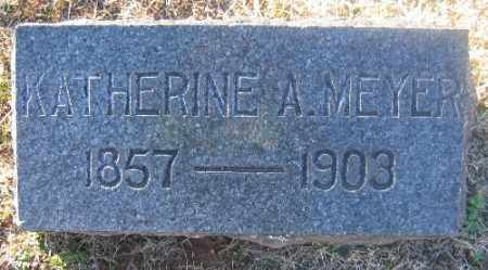 MEYER, KATHERINE A. - Sebastian County, Arkansas | KATHERINE A. MEYER - Arkansas Gravestone Photos