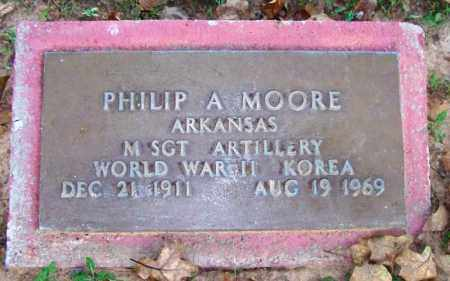 MOORE (VETERAN 2 WARS), PHILIP A - Sebastian County, Arkansas | PHILIP A MOORE (VETERAN 2 WARS) - Arkansas Gravestone Photos