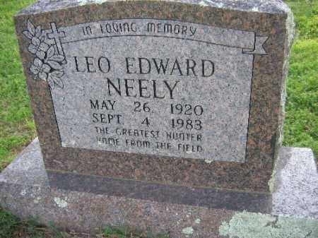 NEELY, LEO EDWARD - Sebastian County, Arkansas | LEO EDWARD NEELY - Arkansas Gravestone Photos