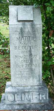 OLIVER, MATTIE - Sebastian County, Arkansas | MATTIE OLIVER - Arkansas Gravestone Photos