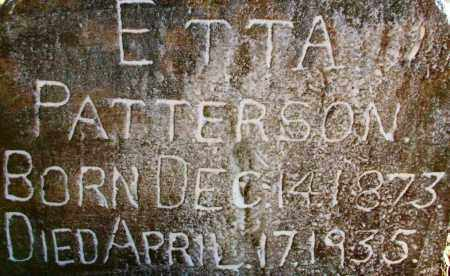 PATTERSON, ETTA - Sebastian County, Arkansas | ETTA PATTERSON - Arkansas Gravestone Photos
