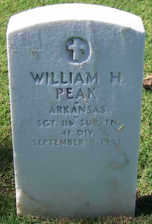 PEAK (VETERAN), WILLIAM H - Sebastian County, Arkansas | WILLIAM H PEAK (VETERAN) - Arkansas Gravestone Photos