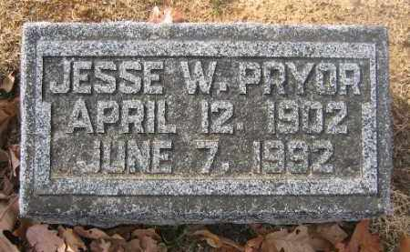 PRYOR, JESSE W. - Sebastian County, Arkansas | JESSE W. PRYOR - Arkansas Gravestone Photos