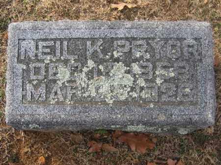 PRYOR, NEIL K. - Sebastian County, Arkansas | NEIL K. PRYOR - Arkansas Gravestone Photos