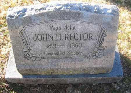 RECTOR, JOHN H. - Sebastian County, Arkansas | JOHN H. RECTOR - Arkansas Gravestone Photos