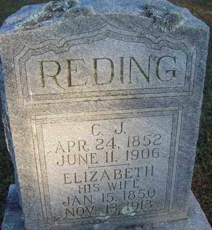 REDING, ELIZABETH - Sebastian County, Arkansas | ELIZABETH REDING - Arkansas Gravestone Photos