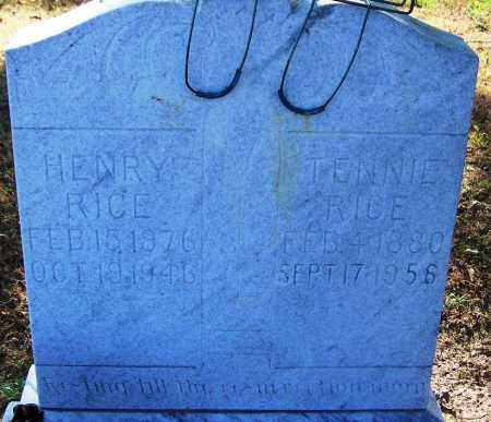 RICE, TENNIE - Sebastian County, Arkansas | TENNIE RICE - Arkansas Gravestone Photos