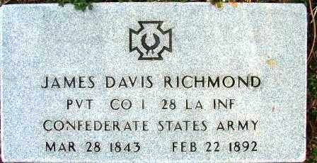 RICHMOND (VETERAN CSA), JAMES DAVIS - Sebastian County, Arkansas | JAMES DAVIS RICHMOND (VETERAN CSA) - Arkansas Gravestone Photos