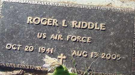RIDDLE (VETERAN), ROGER L - Sebastian County, Arkansas | ROGER L RIDDLE (VETERAN) - Arkansas Gravestone Photos
