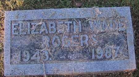 ROGERS, ELIZABETH - Sebastian County, Arkansas | ELIZABETH ROGERS - Arkansas Gravestone Photos
