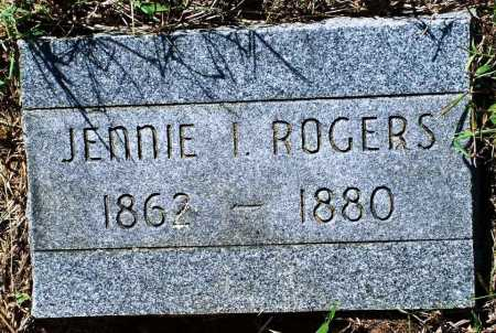 ROGERS, JENNIE I - Sebastian County, Arkansas | JENNIE I ROGERS - Arkansas Gravestone Photos