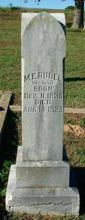 RUDEL, M. E. - Sebastian County, Arkansas | M. E. RUDEL - Arkansas Gravestone Photos