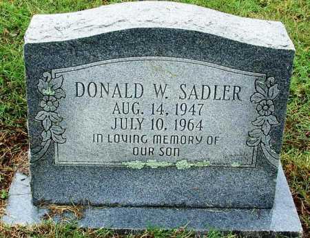 SADLER, DONALD W - Sebastian County, Arkansas | DONALD W SADLER - Arkansas Gravestone Photos