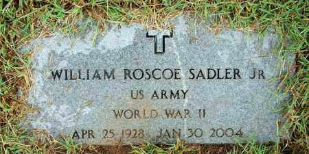 SADLER, JR (VETERAN WWII), WILLIAM ROSCOE - Sebastian County, Arkansas | WILLIAM ROSCOE SADLER, JR (VETERAN WWII) - Arkansas Gravestone Photos