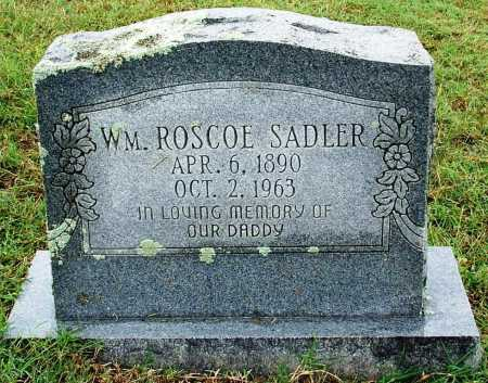 SADLER, WILLIAM ROSCOE - Sebastian County, Arkansas | WILLIAM ROSCOE SADLER - Arkansas Gravestone Photos