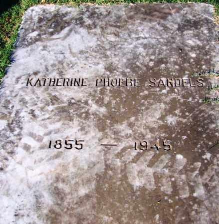 SANDELS, KATERINE PHOEBE - Sebastian County, Arkansas | KATERINE PHOEBE SANDELS - Arkansas Gravestone Photos