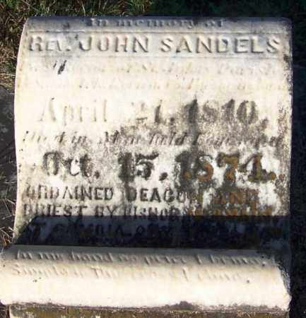 SANDELS, REV, JOHN - Sebastian County, Arkansas | JOHN SANDELS, REV - Arkansas Gravestone Photos
