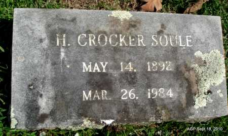 SOULE, H. CROCKER - Sebastian County, Arkansas | H. CROCKER SOULE - Arkansas Gravestone Photos
