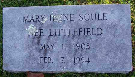 LITTLEFIED SOULE, MARU IRENE - Sebastian County, Arkansas | MARU IRENE LITTLEFIED SOULE - Arkansas Gravestone Photos