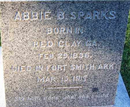 SPARKS, ABBIE B (CLOSEUP) - Sebastian County, Arkansas | ABBIE B (CLOSEUP) SPARKS - Arkansas Gravestone Photos