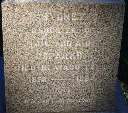 SPARKS, SYDNEY - Sebastian County, Arkansas | SYDNEY SPARKS - Arkansas Gravestone Photos