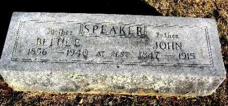 SPEAKER, JOHN - Sebastian County, Arkansas | JOHN SPEAKER - Arkansas Gravestone Photos