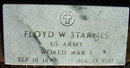 STARNES (VETERAN WWII), FLOYD W - Sebastian County, Arkansas | FLOYD W STARNES (VETERAN WWII) - Arkansas Gravestone Photos