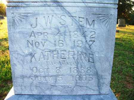 STEM, J. W. - Sebastian County, Arkansas | J. W. STEM - Arkansas Gravestone Photos