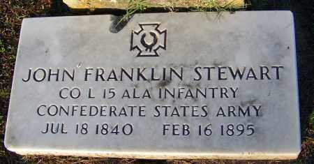 STEWART (VETERAN CSA), JOHN FRANKLIN - Sebastian County, Arkansas | JOHN FRANKLIN STEWART (VETERAN CSA) - Arkansas Gravestone Photos