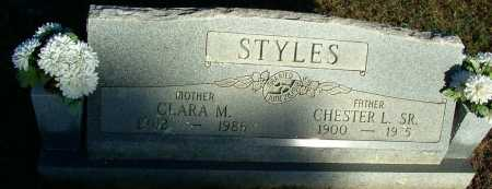 STYLES, SR, CHESTER L - Sebastian County, Arkansas | CHESTER L STYLES, SR - Arkansas Gravestone Photos