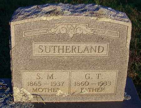 SUTHERLAND, G T - Sebastian County, Arkansas | G T SUTHERLAND - Arkansas Gravestone Photos
