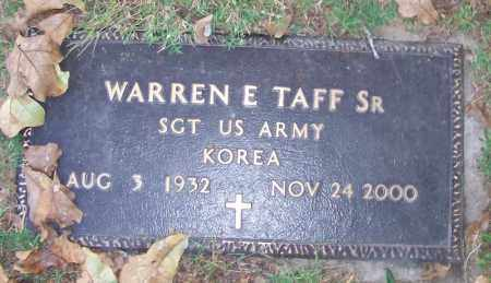 TAFF, SR. (VETERAN KOR), WARREN E - Sebastian County, Arkansas | WARREN E TAFF, SR. (VETERAN KOR) - Arkansas Gravestone Photos