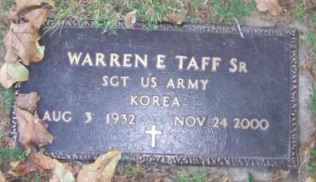 TAFF, SR. (VETERAN KOR), WARREN E - Sebastian County, Arkansas | WARREN E TAFF, SR. (VETERAN KOR) - Arkansas Gravestone Photos