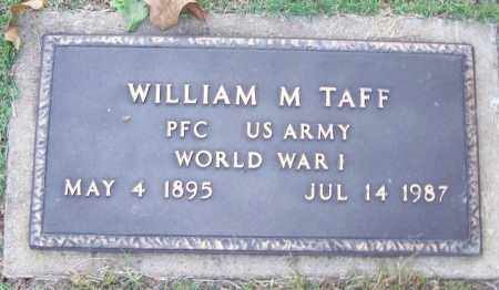 TAFF (VETERAN WWI), WILLIAM M - Sebastian County, Arkansas | WILLIAM M TAFF (VETERAN WWI) - Arkansas Gravestone Photos