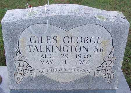 TALKINGTON, SR., GILES GEORGE - Sebastian County, Arkansas | GILES GEORGE TALKINGTON, SR. - Arkansas Gravestone Photos