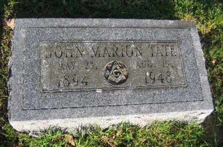 TATE, JOHN MARION - Sebastian County, Arkansas | JOHN MARION TATE - Arkansas Gravestone Photos