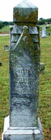 TATUM, WALTER E. - Sebastian County, Arkansas | WALTER E. TATUM - Arkansas Gravestone Photos