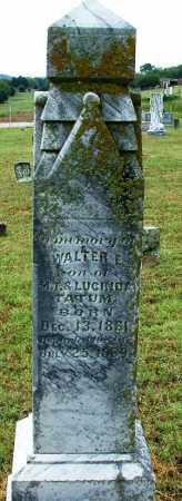 TATUM, WALTER E - Sebastian County, Arkansas | WALTER E TATUM - Arkansas Gravestone Photos