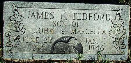 TEDFORD, JAMES E. - Sebastian County, Arkansas | JAMES E. TEDFORD - Arkansas Gravestone Photos