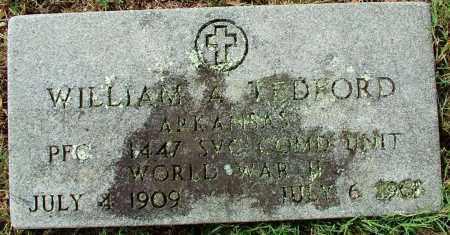 TEDFORD (VETERAN WWII), WILLIAM H - Sebastian County, Arkansas | WILLIAM H TEDFORD (VETERAN WWII) - Arkansas Gravestone Photos