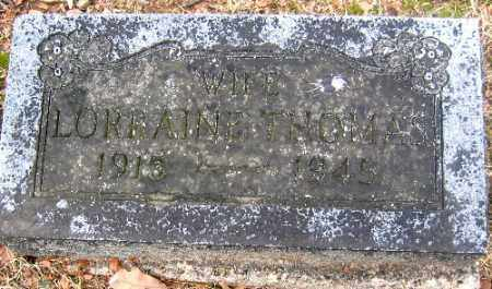THOMAS, LORRAINE - Sebastian County, Arkansas | LORRAINE THOMAS - Arkansas Gravestone Photos