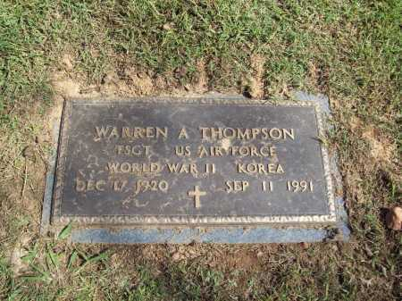 THOMPSON (VETERAN 2 WARS), WARREN - Sebastian County, Arkansas | WARREN THOMPSON (VETERAN 2 WARS) - Arkansas Gravestone Photos