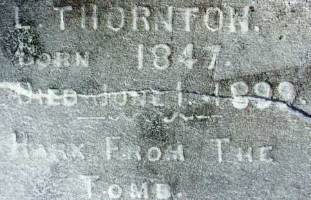 THORNTON, L - Sebastian County, Arkansas | L THORNTON - Arkansas Gravestone Photos