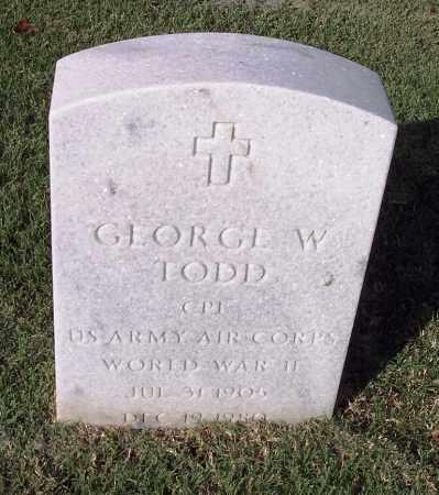 TODD (VETERAN WWII), GEORGE W - Sebastian County, Arkansas | GEORGE W TODD (VETERAN WWII) - Arkansas Gravestone Photos