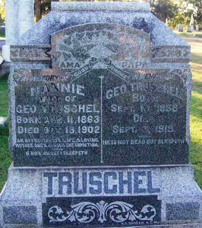 TRUSCHEL, NANNIE - Sebastian County, Arkansas | NANNIE TRUSCHEL - Arkansas Gravestone Photos